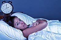 женщина ночью не может заснуть