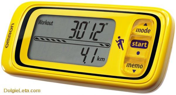 Шагомер OMRON HJA-300-EY (желтый) монитор активности - средняя цена 2800 рублей