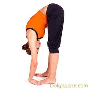 Йога - поза интенсивного вытяжения - Уттанасана
