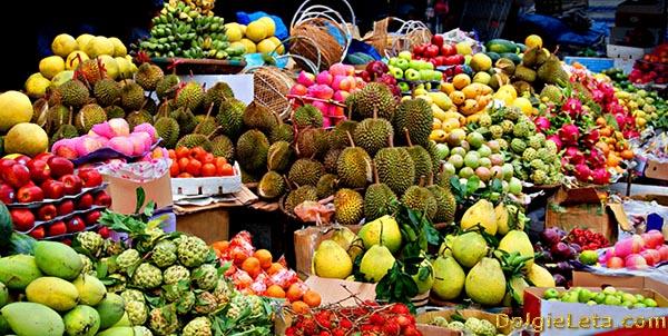 Экзотические фрукты на Вьетнамском рынке