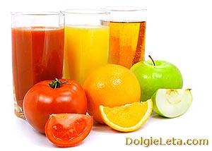 Свежевыжатые соки: польза и вред фруктовых и овощных напитков