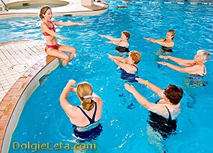Польза от водных упражнений для похудения.