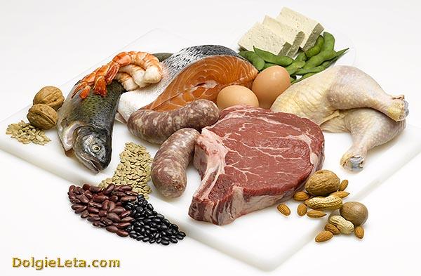 Список белковых продуктов для похудения живота во время диеты.