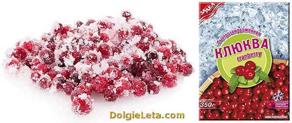 Как хранится замороженная клюква и заморозка ягоды в продаже.