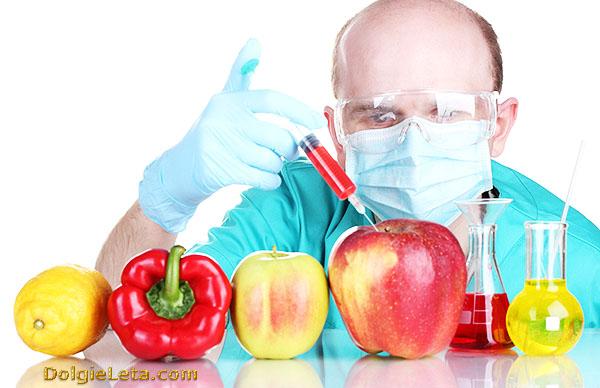 Производство генномодифицированных продуктов питания.