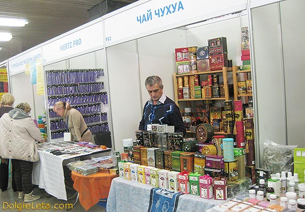 Стенд с продажей чая