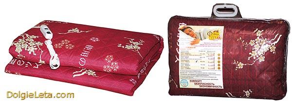На фото электроодеяло Фабрика тепла Premium 185x150 в упаковке - фото.