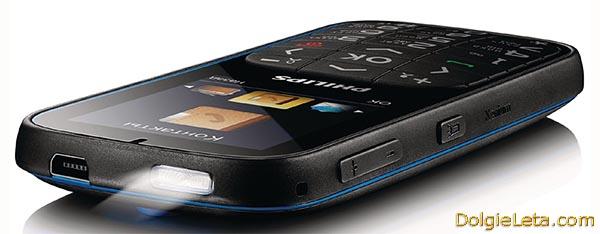 Сотовый телефон Филипс с большими кнопками и фонариком - Philips Xenium X2301 фото.