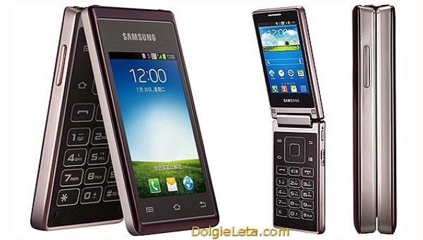 Фото сотовый телефон раскладушка Samsung Master Dual с большими кнопками - Самсунг