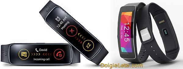 Фото браслета Samsung Gear- Fit - видео обзор, цена