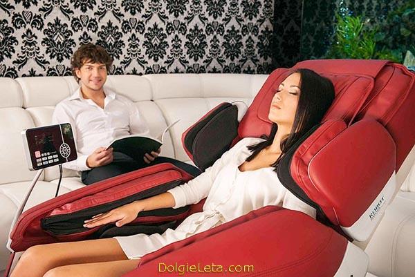 Массажное кресло красного цвета для дома iRest SL-A50 - фото
