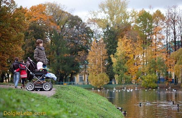 Осенняя прогулка с детишками в Таврическом саду.