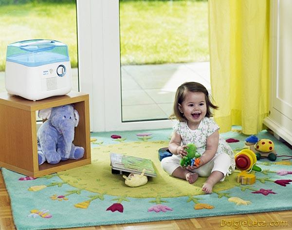 Отзывы о использовании увлажнителя воздуха в квартире - детской комнате.