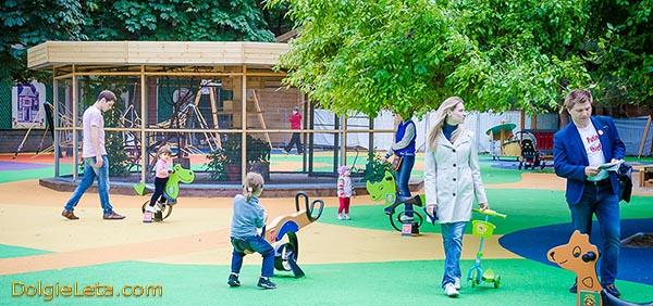 Детская игровая площадка с парке Эрмитаж.