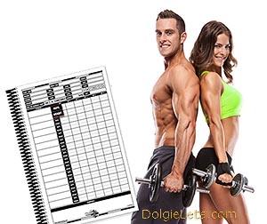 Ведем индивидуальный спортивный дневник тренировок - скачать образец заполнения.