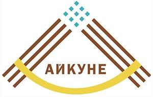 На фото представлен логотип казахской гимнастики Айкуне