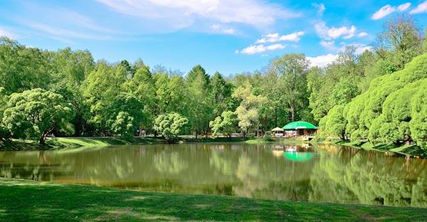 Парк Фили - вид на пруд