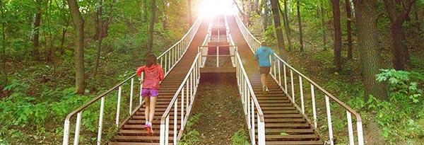 Занимаемся бегом в парке Фили.