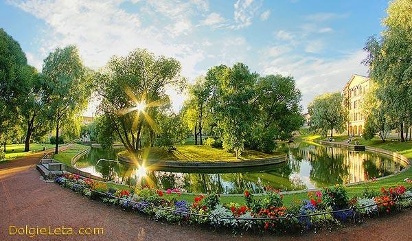 Фото Юсуповского сада в Санкт-Петербурге.