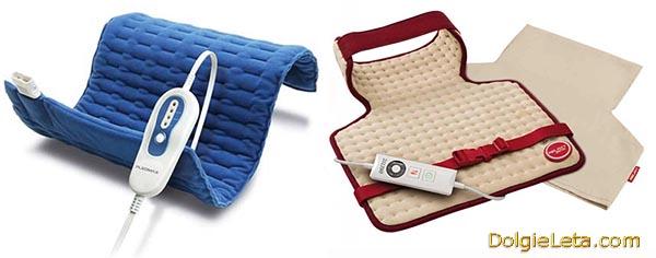 Электрогрелки для постели,  для спины, шеи, тела и ног - электрические грелки.