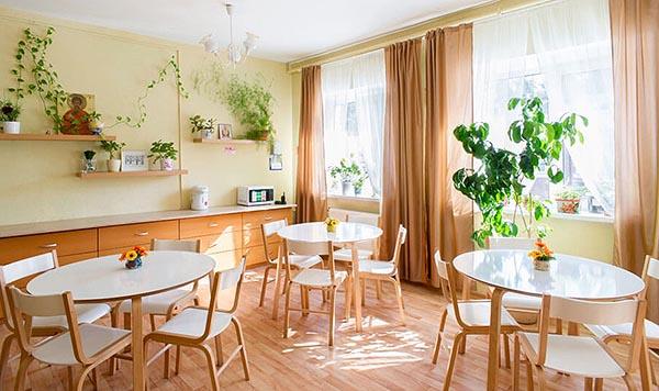 """""""Южный"""" - дом для пожилых и престарелых - фото столовой."""