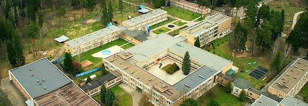 Вид сверху на территорию санатория Васильевский.