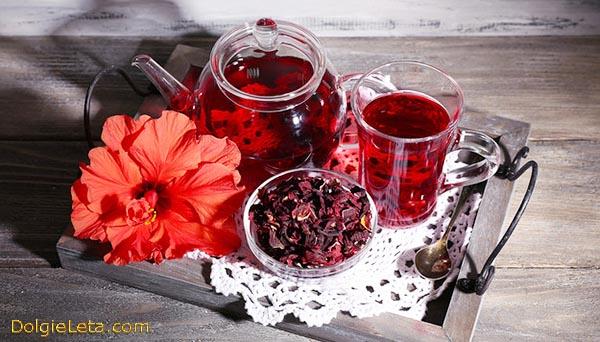 Каркаде - отзывы о пользе чая.