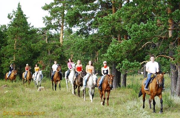 Конные прогулки и катания на лошадях детей и взрослых.