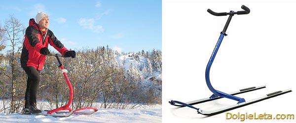 Новые современные финские сани для взрослых людей и детей.