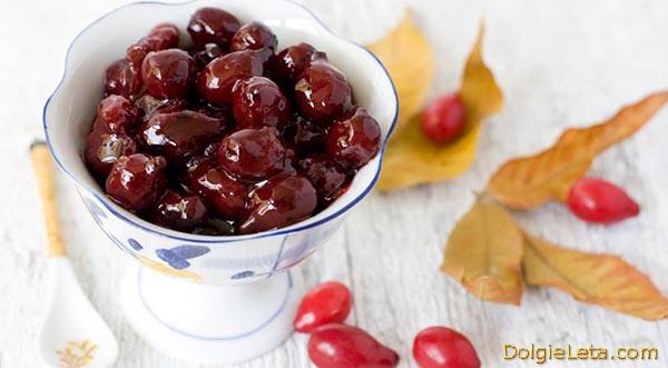 Варенье из ягод кизил - рецепт приготовления.