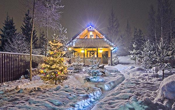 Встречаем Новый год на даче и проводим зимние каникулы с детьми.