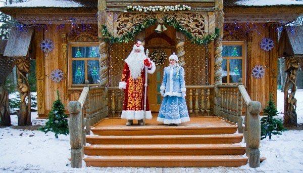 Едем в гости к Деду Морозу и Снегурочке.
