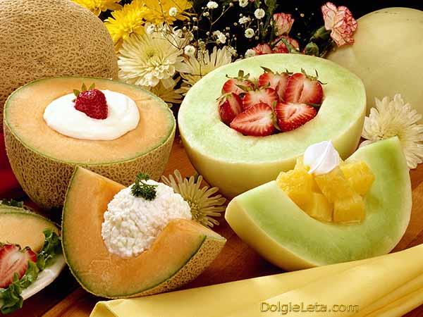 Сколько калорий в дыне - на фото разные сорта с фруктами