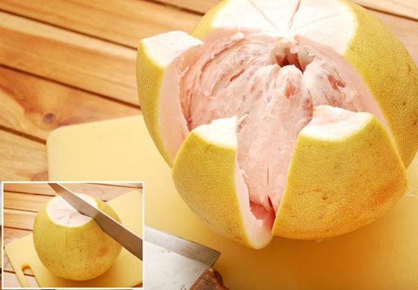 Как едят помело