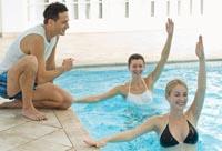 Аквааэробика - упражнения для похудения в воде