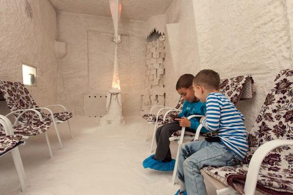 Спелеотерапия для детей - процедуры в соляной комнате