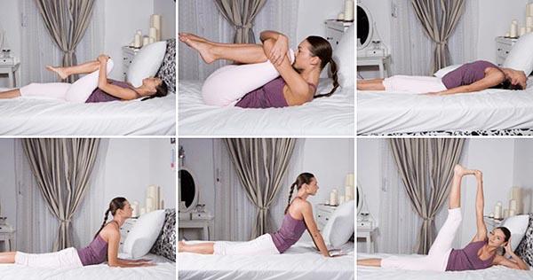 Гимнастика здоровья - упражнения на кровати